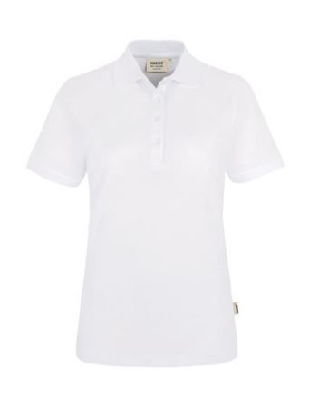 Damen-Polo-Shirt mit Schullogo-Stick vorne