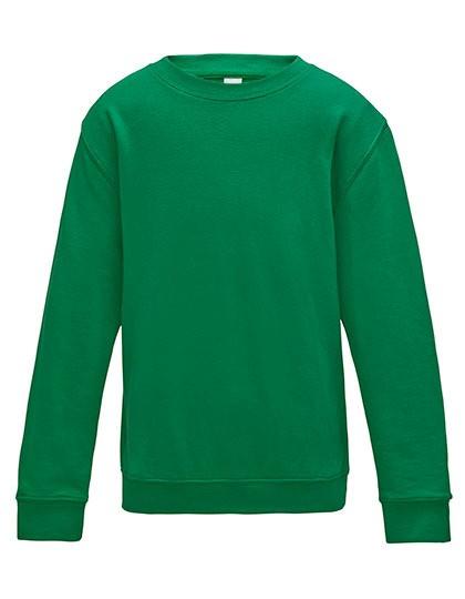 Kinder-Sweater mit Schullogo-Druck auf dem Rücken