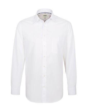 Herren-Hemd bügelfrei 1/1-Arm mit Schullogo-Stick auf dem Kragen