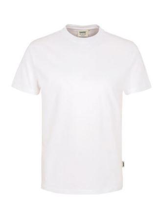 Herren-Rundhals-Shirt mit Schullogo-Druck vorne