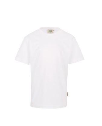 Kinder-T-Shirt mit Schullogo-Druck auf dem Rücken